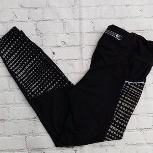 Athleta Black And White Track Pants